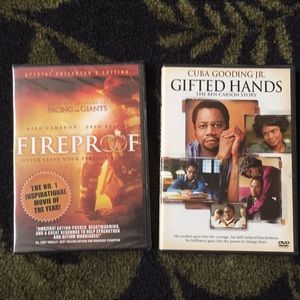 DVD 2 Movie Bundle Fireproof Gifted Hands